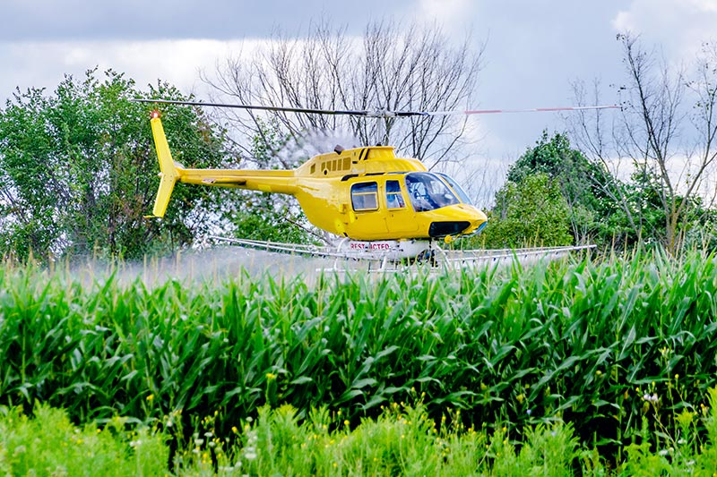 Agricultural Helicopter Spraying in Virginia
